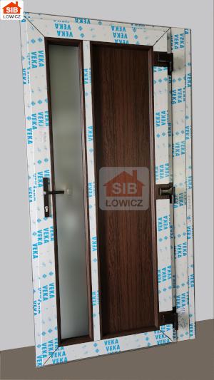 Drzwi SIB Łowicz w kolorze dąb bagienny