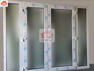 Drzwi wejściowe 2-skrzydłowe z naświetlami na profilu Veka